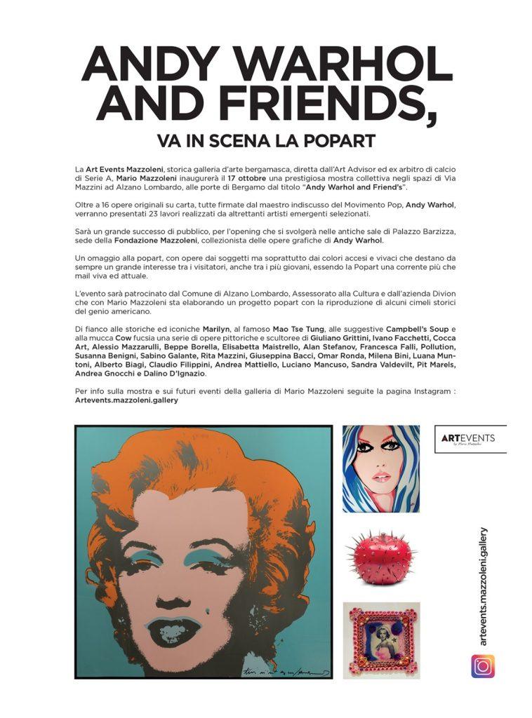 Tutto mostra ad Alzano Lombardo Andy Warhol and Friends ottobre 2019