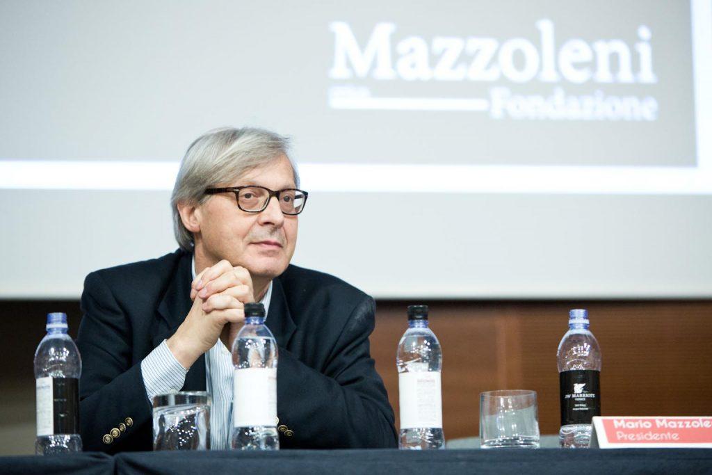 Mazzoleni inaugura a Venezia con Sgarbi